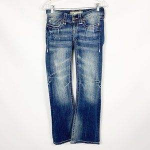 BKE Stella Boot Cut 24 Jeans Embroidery Inseam 31""